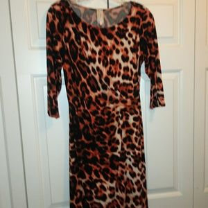 Lovely Classy Fitted Animal Print Dress